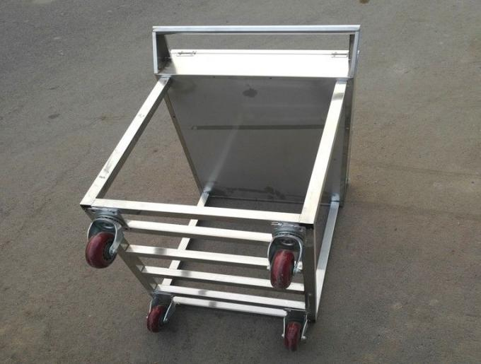 Stainless Steel Kitchen Condiments Trolley For Wok Stove with 12 Containers Capacity