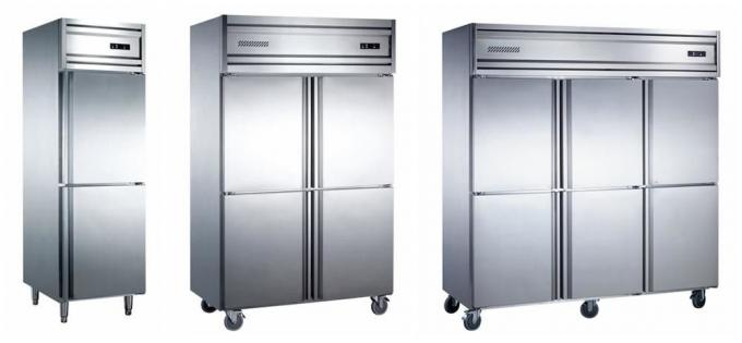 Low Power Consumption Commercial Refrigerator Freezer Highly Firm Adjustable Shelves