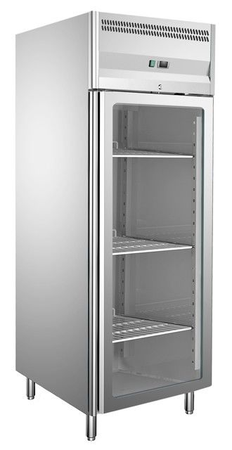 CE Approved Glass Door Reach-In Upright Chiller Imported Embraco Compressor Commercial Refrigerator Freezer