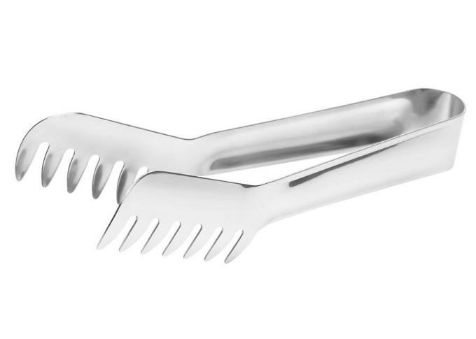 V-Shaped Stainless Steel Pasta / Spaghetti Tongs, Salad Tongs, Buffet Serving Line Supplies