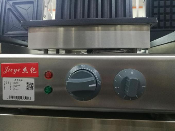 Electric Grilled Hot Dog Waffle Machine For Snack Bar 220V 1550W