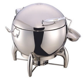 China Round Soup Station Stainless Steel Kitchenware With 11.0L Bucket supplier