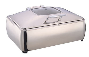 China Full Size Stainless Steel Induction Chafing Dish GN1/1 Food Pan 9.0Ltr with Matching Stand Buffet Food Warmer supplier