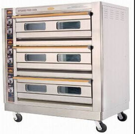 China 27KW / 3~380V Luxury Electric Baking Oven For Bread Shop , 1655x770x1540mm supplier