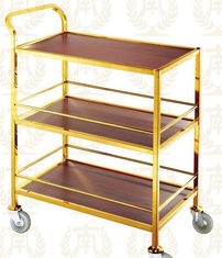 China 3 Layers Service Trolley Oblong Room Service Equipments 880*465*940mm supplier