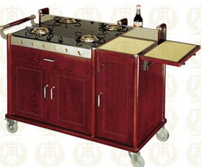 China Double Head Abalone Cart Luxury Room Service Equipments 1420*600*940mm supplier