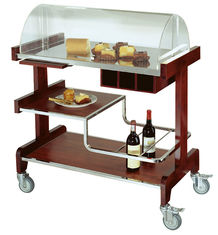 China Deluxe Pastry Cart Solid Wood Dessert Service Equipments 910*510*1120mm supplier