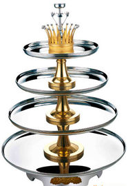 China 4 Tier Buffet Revolving Stand Stainless Steel Cookwares For Seafood supplier