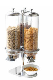 China Triple Oat Cereal Dispenser With Stainless Steel Seat , Three Food Division Machine supplier