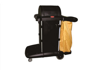 China Multipurpose Cleaning Cart With Cover / Room Service Equipments Without Noise supplier