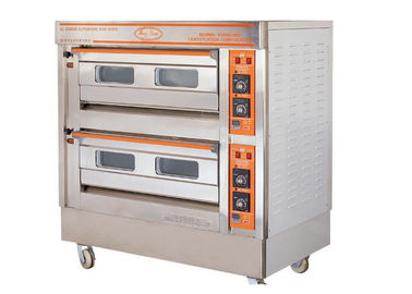 China QL-4A Two Deck Gas Oven / Commercial Electric Baking Ovens With Automatic Protection Devices supplier
