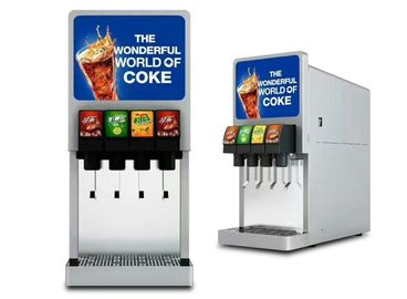 China Automatic Coke Machine 4 Dispenser Valves Snack Bar Pepsi Sprite Cola Maker supplier