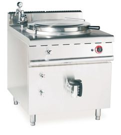 China JUSTA Gas Indirect Jacketed Boiling Pan Commercial Kitchen Equipments , Soup Cooker Machine supplier