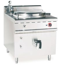 China JUSTA Gas Indirect Jacketed Boiling Pan Kitchen Equipments 150L Soup Cooker Machine supplier