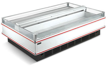 China Supermarket Refrigerator Freezer Island Showcase For Frozen Meat And Seafood supplier