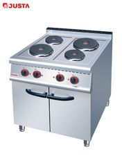 China JUSTA Electric 4-Plate Range Burner Cooking Range With Cabinet Western supplier