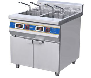 China Two-Cylinder Four Basket Deep Fryer With Cabinet  Commercial Kitchen Equipments supplier