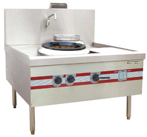 China Environmental Chinese Cooking Stove Quiet Turbo Wok Range 1200 x 1220 x (810+450) mm supplier