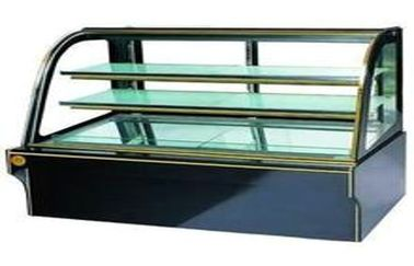 China Glass Door Upright Cake Cooling Showcase Granite Base , Food Warmer Showcase 3 supplier