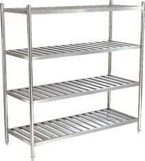 China Silver Stainless Steel Catering Equipment 1200x500x1550mm , 4 Tier Storage Shelf supplier