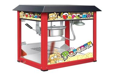 China Painting Iron Countertop Popcorn Machine With Organical Glass For Snack Shop supplier