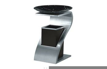 China GPX-78A Room Service Equipments , Diamond Stainless Steel Dustbin For Hotel supplier