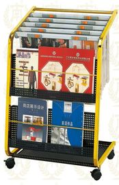 China Stainless Steel Information Newspaper Rack With Copper Plated , 650x400x900mm supplier