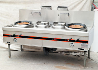China Firebrick 2 Burner Commercial Gas Cooking Stoves / Gas Cooking Range For Kitchen supplier