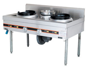 China Stainless 250W Natural Gas Burner Cooking Range CS-9080 For Kitchen Equipments supplier