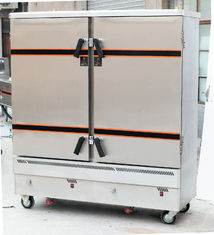 China Hotel Commercial 16 Tray Gas Food Steamer 2.5kg/H With 2 Door , 690x530x1640mm supplier