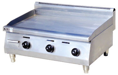 China LPG Gas Countertop Electric Griddle 13.5kw For Commercial Kitchen 900x660x480mm supplier