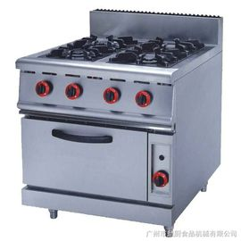 China JUSTA ZH-RQ-4 Stainless Steel Kitchen Equipments 4.8KW PNG Gas Burner With Oven supplier