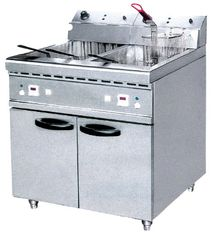 China JUSTA 40L Electric Two Tank Deep Fryer With Cabinet ZH-RCX2 Western Kitchen Equipment supplier