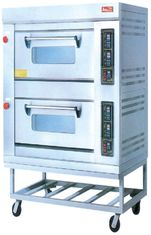 China Gas 220V Electric Baking Ovens RQL-24BQ With Two Layer For Commercial Kitchen supplier