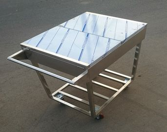 China Stainless Steel Kitchen Condiments Trolley For Wok Stove with 12 Containers Capacity supplier