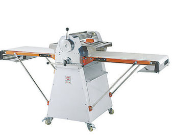 China Free Standing Dough Roller Machine / Pastry Processing Equipments 2540 * 910 * 1150mm Two - way Belt - Driven supplier