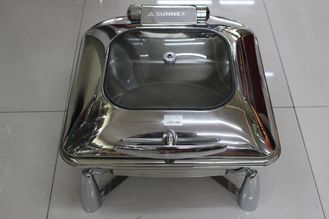 China Contemporary Stainless Steel Cookwares  / Chafing Dish Buffet Set Rectangular Shape supplier