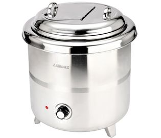 China Stainless Steel Electronic Soup Kettle Adjustable Temperature Control Knob 10Ltr 220VAC 380W supplier