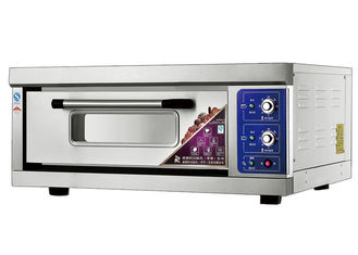 China 1 Deck 1 Tray Stainless Steel Electric Baking Ovens Laminated-Type Features Energy-Saving Temperature Range 20~300°C supplier