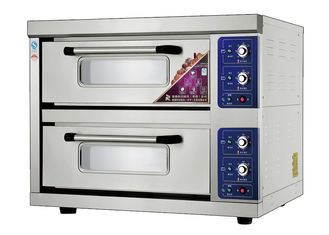 China 2 Decks 2 Trays Stainless Steel Electric Baking Ovens Laminated-Type Features Energy-Saving Temperature Range 20~300°C supplier