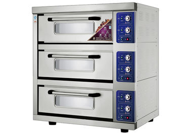 China Energy -  Saving 3 Trays Stainless Steel Electric Baking Ovens Laminated - Type , Temperature Range 20 ~ 300°C supplier