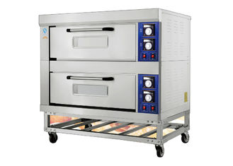 China 2 Decks 4 Trays Electric Far-Infrared Bakery Oven Stainless Steel Exterior Independent Chambers and Temperature Control supplier