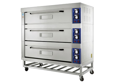 China Large Capacity Electric Deck Oven Comes With Stainless Steel Exterior Chamber supplier