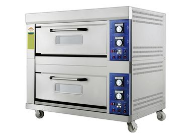 China Laminated-Type Gas Bakery Oven With Timing Control and Adjustable Temperature Range 20~400°C Capacity 2 Decks 4 Trays supplier