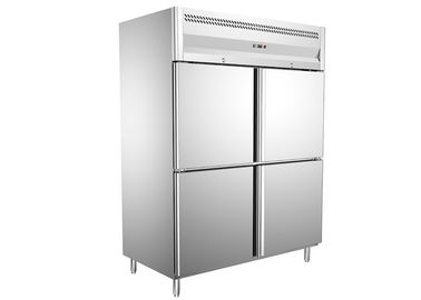 China AISI 304 SS Exterior Commercial 4 Door Reach - In Freezer , Digital Temperature Control -18 ~ -22°C Range supplier
