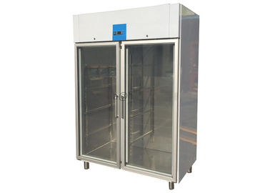 China CE Approved Glass Door Reach-In Upright Chiller Imported Embraco Compressor Commercial Refrigerator Freezer supplier