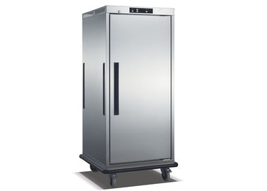 China Stainless Steel Single Door Heated Holding Cabinet Commercial Food Warmer Cart supplier