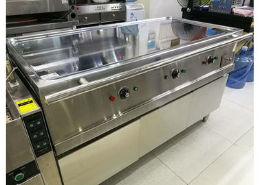 China 380V 8.4KW Hot Buffet Equipment Electric Teppanyaki Griddle Stainless Steel Hot Plate supplier