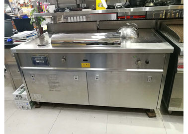 China Commercial Restaurant Equipment LPG Rectangle Teppanyaki Grill Iron Plate Surface supplier