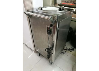 China 1-Holder Electric Plate Warmer Cart Capacity 50 Dishes, Single Heated Dish Dispenser, Commercial Buffet Equipment supplier
